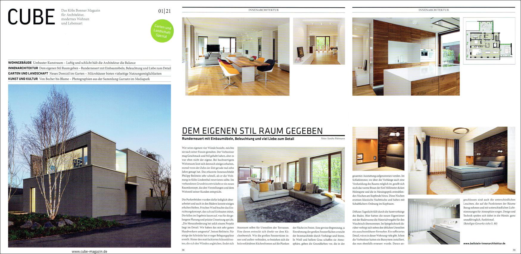 Beilstein Innenarchitekt und Interiordesign Köln